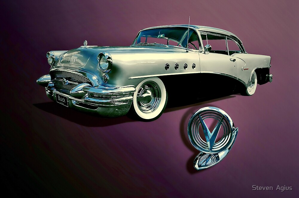 1955 Buick Century by Steven  Agius