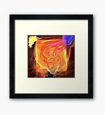 high as a kite smile gone... the reality of crashing down to earth Framed Print
