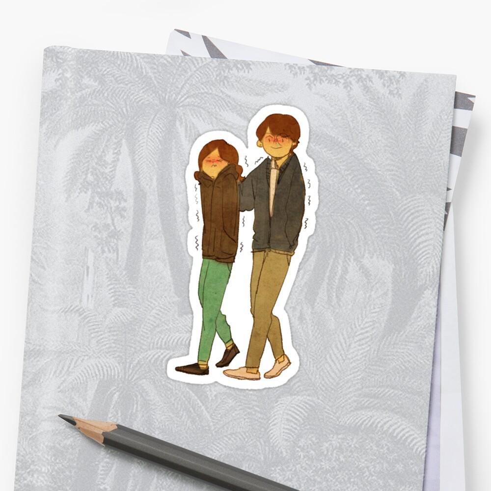 It's cold Sticker