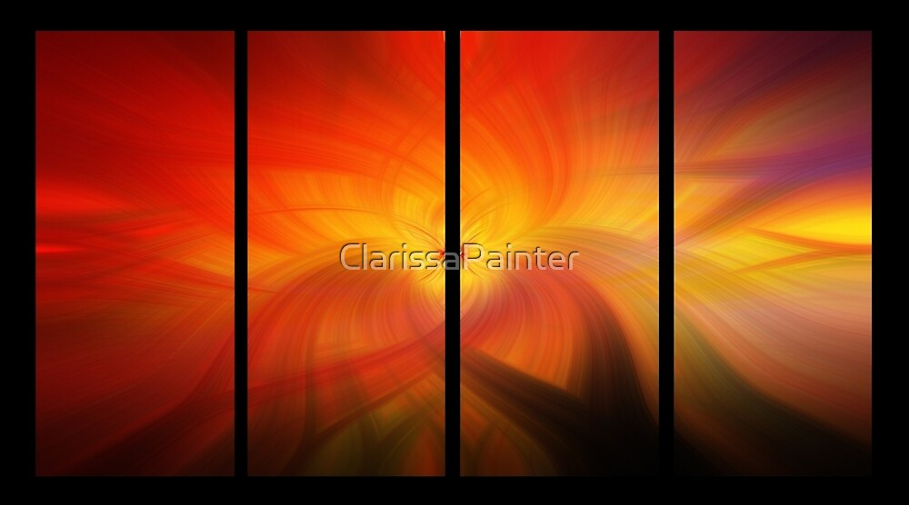 divided amber waves by ClarissaPainter