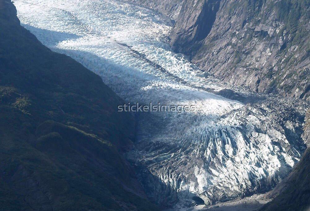 landscapes #59, ice flow   by stickelsimages