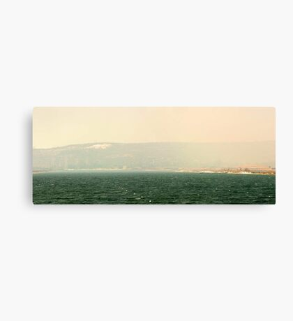 Bushfire Smoke Over Champion Lakes  Canvas Print