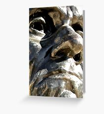 Nose To Nose With Rodin Greeting Card