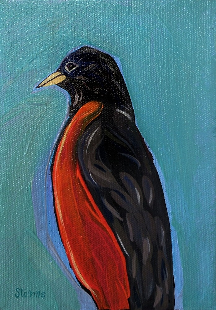 Robin Redbreast - Bird Painting by Lucinda  Storms