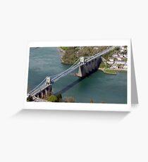 Menai Suspension Bridge Greeting Card