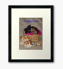 Bunny in a Basket Framed Print