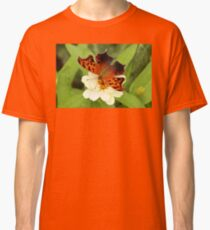 Question Mark Butterfly on Flower Classic T-Shirt