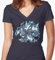 Pegasi Blues  Fitted V-Neck T-Shirt
