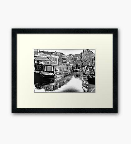 Skipton Canal Basin Framed Print