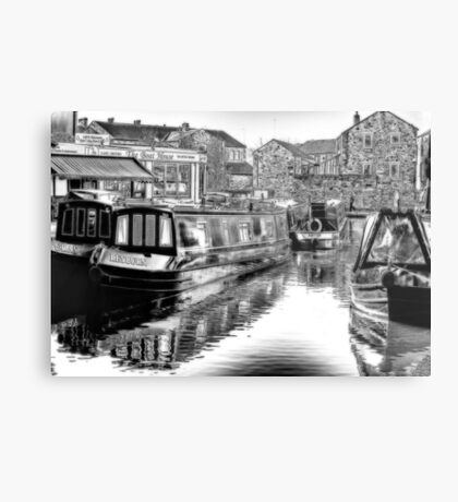 Skipton Canal Basin Metal Print