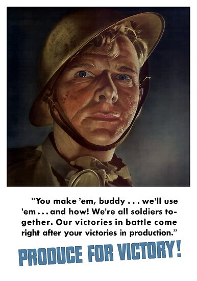 Produce For Victory -- World War Two by warishellstore