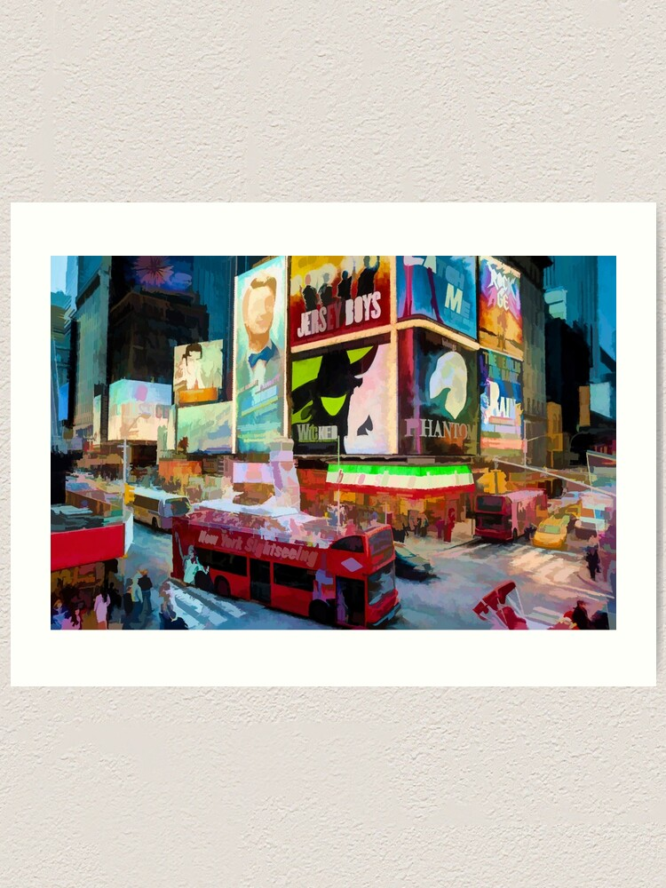 Alternate view of Times Square II (pastel paint style) Art Print