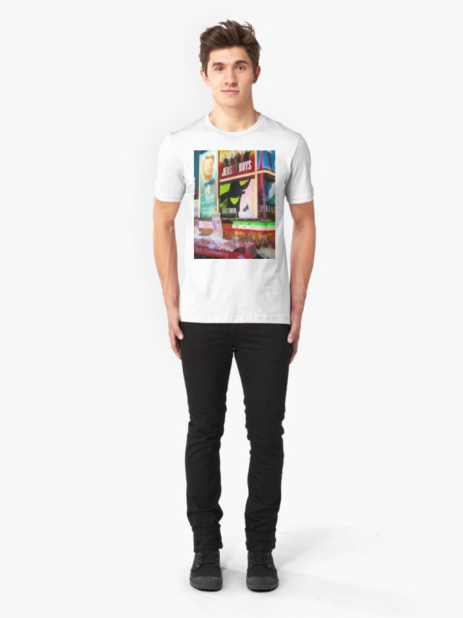Alternate view of Times Square II (pastel paint style) Slim Fit T-Shirt