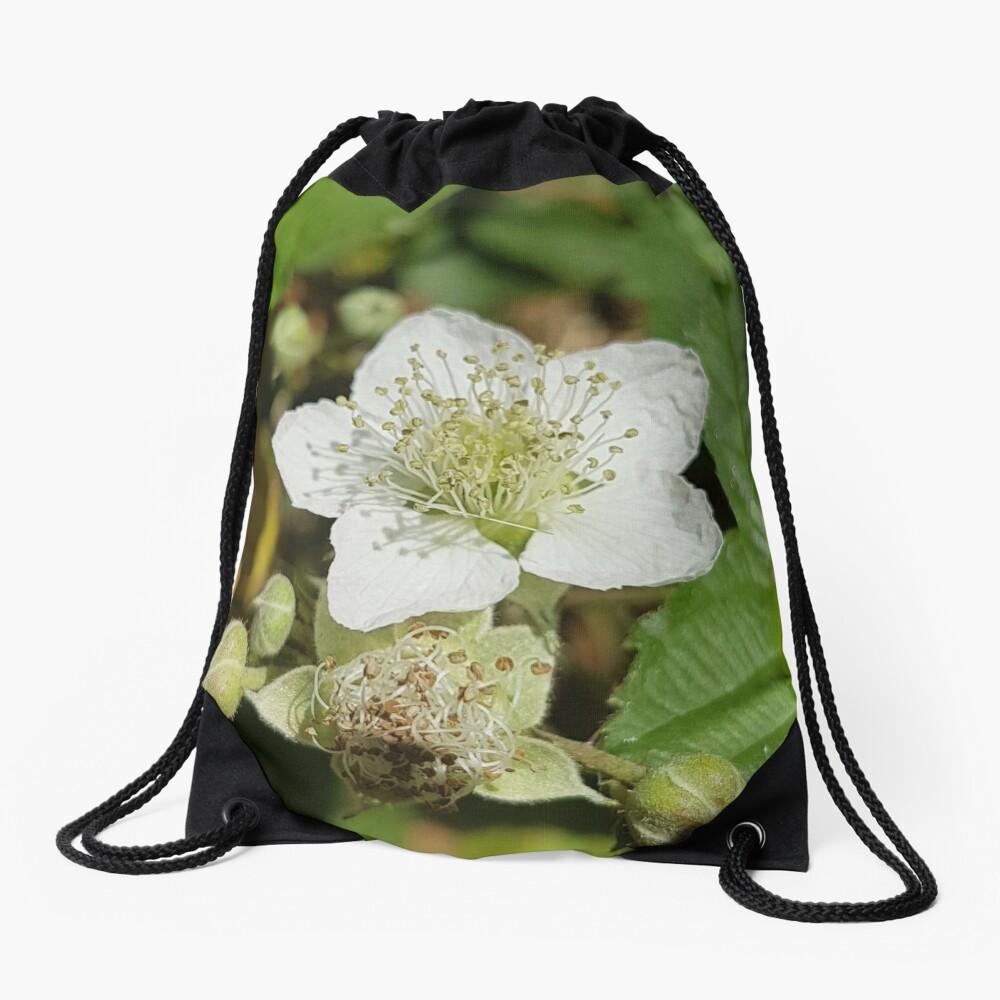 Bramble Blossom Drawstring Bag