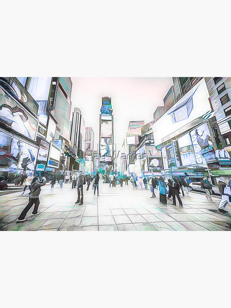 Times Square Sparkle (colour sketch) by RayW