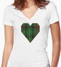 00413 George Brown Tartan Women's Fitted V-Neck T-Shirt