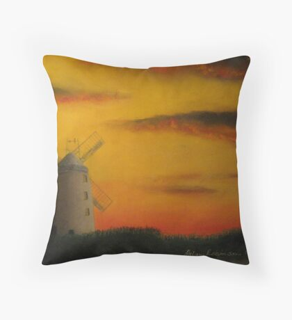 Ballycopeland Windmill,  Millisle,  Northern Ireland Throw Pillow