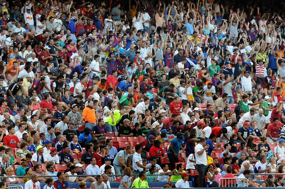 Wall of Cheering Fans by montserrat