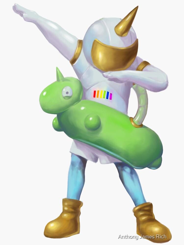 Unicorn Spaceboy Dab | Digital Illustration by AJRart