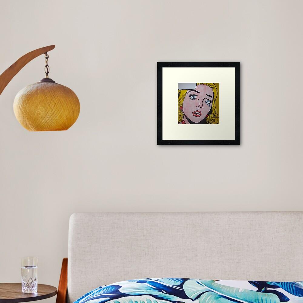 Cry 22 Framed Art Print