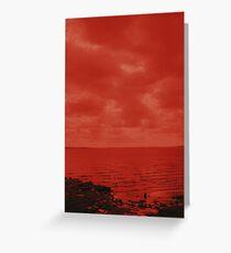 Martian Lake Greeting Card