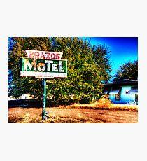 Brazos Motel - Grandbury, Texas Photographic Print