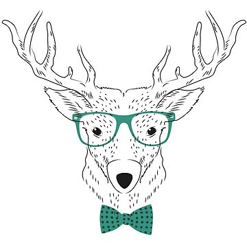 Hipster Deer T-Shirt by juankdef