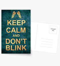 Keep Calm and Don't Blink Postcards