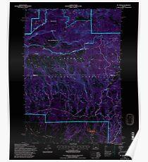 USGS Topo Map Oregon Mt Pisgah 280873 1992 24000 Inverted Poster