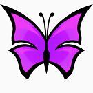 Bright Pink Butterfly by Sharon Stevens