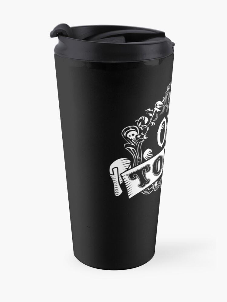 Alternate view of Odd Tonic Official Logo - PRINT ON BLACK Travel Mug