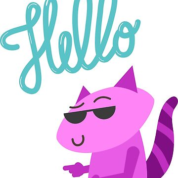 Hello Racoon T-Shirt by juankdef