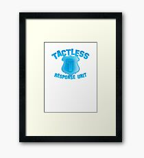 TACTLESS Response unit with shield badge Framed Print