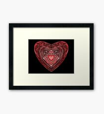 Ruby Glass Heart Framed Print