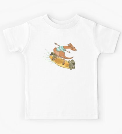 Surfing kangaroo and friends Kids Clothes