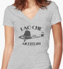 Lao Che Air Freight Women s Fitted V-Neck T-Shirt c9daf296f48