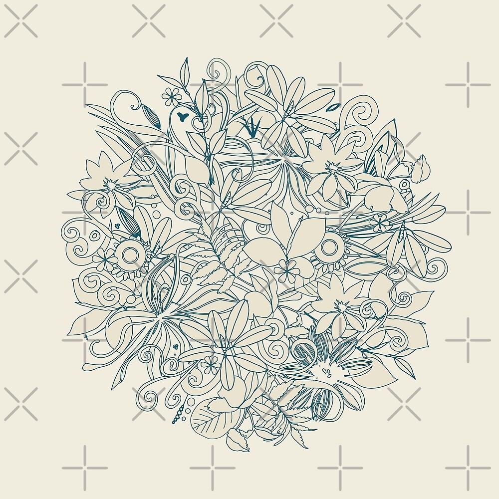 Denim flower circle by camcreativedk