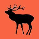 Hirsch in schwarz von rhnaturestyles