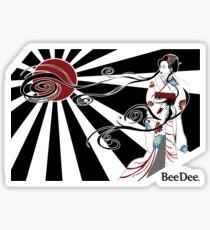 Geisha Nouveau  Sticker