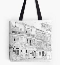 Streetscape Singapore Tote Bag