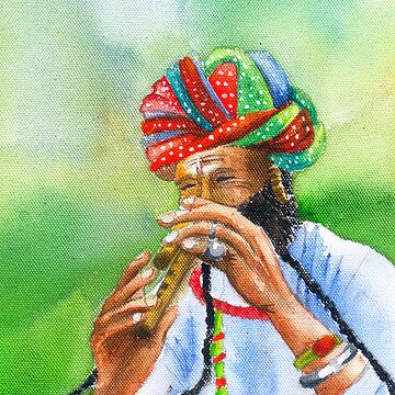 Incredible India -- The amazing flutist by tridibghosh
