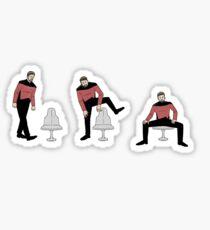 Pegatina Riker sentado