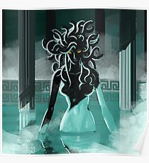 medusa in the spa Poster
