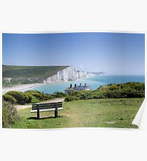 Seven Sisters chalk cliffs Poster