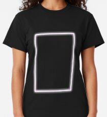 Pink Glowing Neon Rectangle Classic T-Shirt