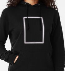 Pink Glowing Neon Rectangle Lightweight Hoodie