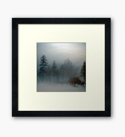 Blue Fog IV Framed Print