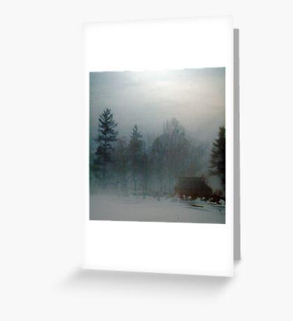 Blue Fog IV Greeting Card