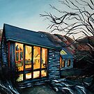 Wales Cottage at Dusk by FatEyes