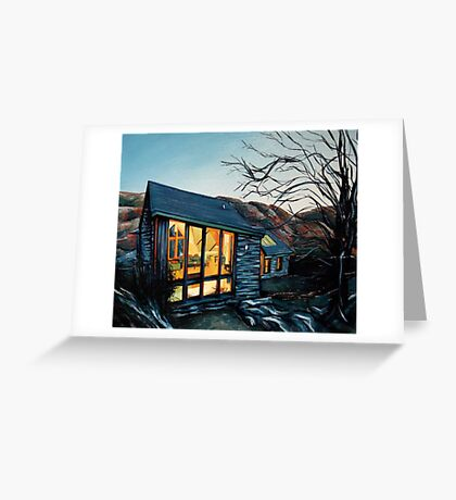 Wales Cottage at Dusk Greeting Card